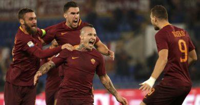 Nainggolan festeggia il gol contro il Milan